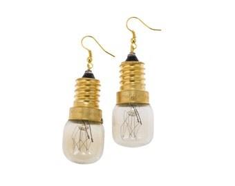 Gold Light Bulb Earrings