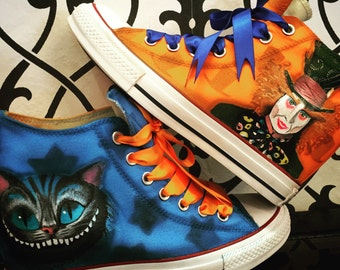 KIDS sizes. Custom Airbrushed Converse Sneakers -. Cartoons, Logos, Icons - Anything can be painted