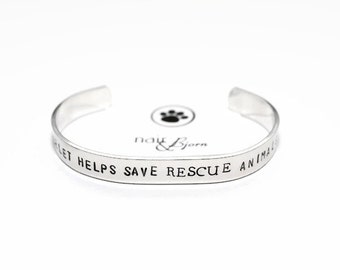 This Bracelet Helps Save Rescue Animals - 50% of every purchase will be donated to help rescue animals - Unisex, rescue jewelry, animallover