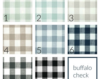 Buffalo Check Drapery Panels. Pair of Two. 63 84 90 96 108 Length. Plaid Gingham Custom Window Treatments.
