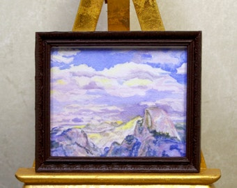 Yosemite's Glacier Point in Winter:  Watercolor Print by Marie Haeffner-Reeves