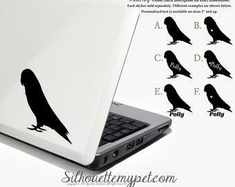 Parrotlet Decal Vinyl Sticker - Silhouette My Pet Design:BIR-PRR01