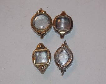 4 Vintage Silver and Gold Ladies Watch Cases