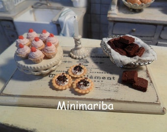 Miniature dollhouse sweets tablet 1/12 scale