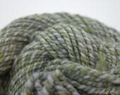 "Handspun Yarn- Bulky, 8wpi, 38m, 28g, Merino, Silk, BFL , ""Sea Treasure"""