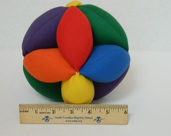 Jumbo Baby Grab Ball - Clutch Ball - Montessori Toy - Amish Puzzle Ball - X Large Size Soft Toy Ball - Toddler Toy - Learning Baby Toy Ball