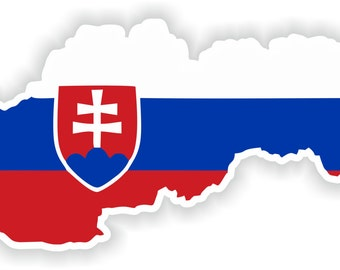 Slovakia Map Flag Silhouette Sticker for Laptop Book Fridge Guitar Motorcycle Helmet ToolBox Door PC Boat