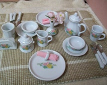 Child Play China Tea Set Service for 2  23 Pieces   #107