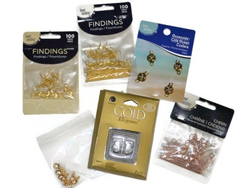 AssoredGold and Gold Plated Bulk lot Findings Discount Jewelry Supplies Jewelry Supplies