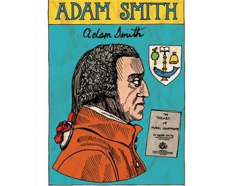 Illustrated magnet  - Adam Smith design (University of Glasgow)