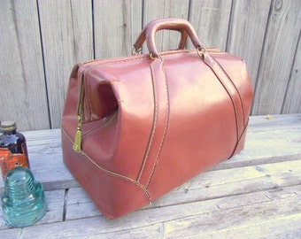 OLD Doctors Bag - Brown Leather - Nice for your display