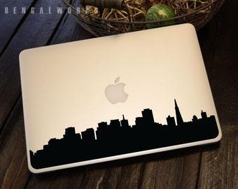 San Francisco Skyline Macbook Decal 1   Macbook Sticker   Laptop Decal   Laptop Sticker   Car Sticker