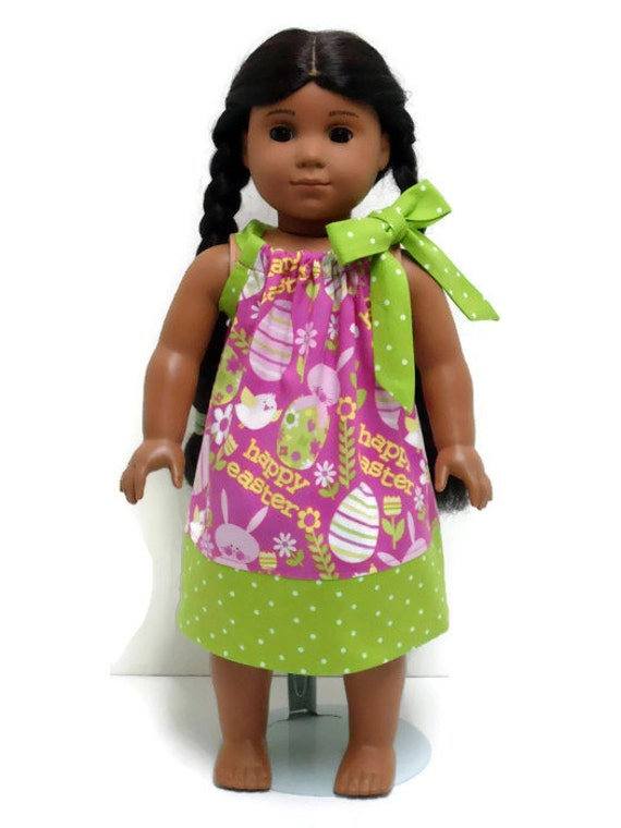18 inch Doll Clothes Pillowcase Dress Happy Easter 15 inch Doll Clothes