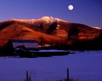 Mt Mansfield Moonrise