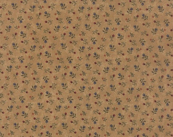 SUNFLOWER SONG  moda fabric by 1/2 yard Kansas Troubles Quilter multicolor tossed  flowers on TAN  9486-11