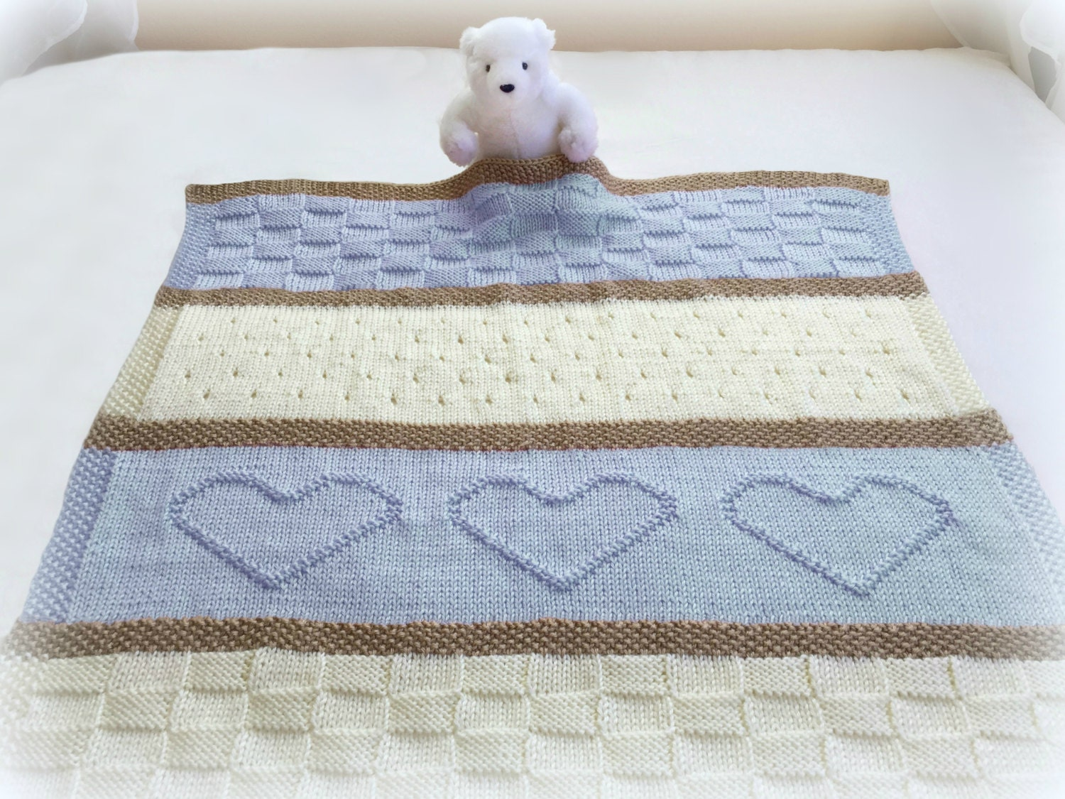 Baby Blanket Pattern Knit Baby Blanket Pattern Heart Baby
