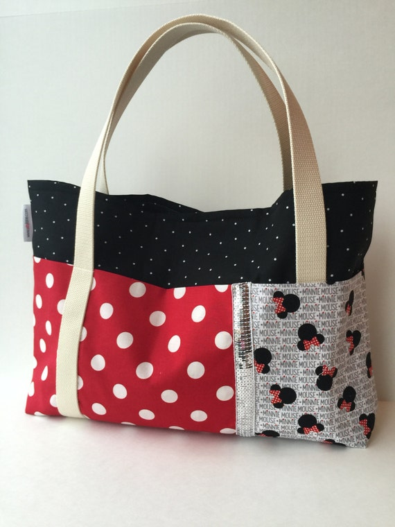 Mickey/Minnie Five Pocket Tote Bag
