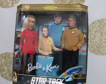 Vintage Star Trek Ken and Barbie Set - 30th Anniversary Collectors Edition - In Original Box - Never Been Open