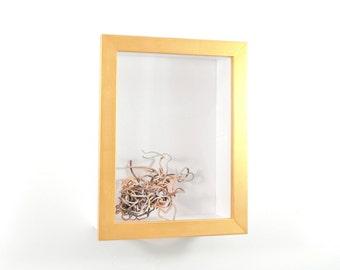 bo te d 39 ombre cadre 18 x 24 deep shadow box par emilyanothercup. Black Bedroom Furniture Sets. Home Design Ideas