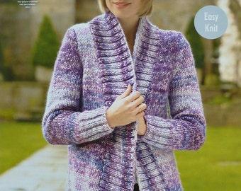 Knitting pattern Serenity jacket Convertible jacket Easy knit