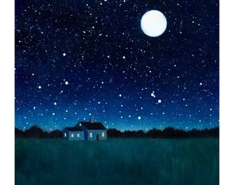 Night Sky Print - 8 x 10