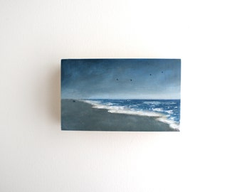 Beach Oil Painting - 3 x 5