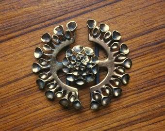 Mid Century Modern Hannu Ikonen Belt Buckle - 1960s Modernist Reindeer Moss Jewelry