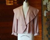 SALE / vintage dusty rose short trench jacket / size medium large