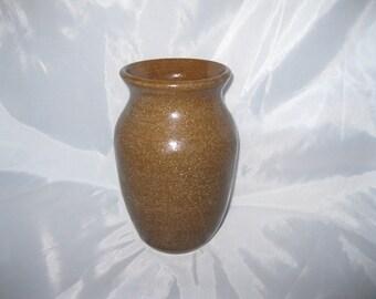 Earthy Brown Vase, Stoneware Ceramic Pottery, Wheel Thrown