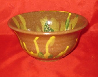 Yellow, Green, and Brown Bowl
