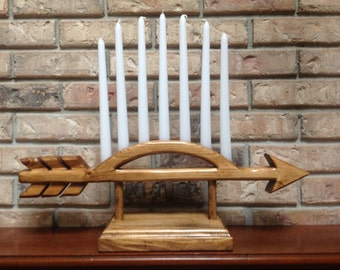 Cub Scout Arrow of Light Ceremonial Candle Holder with Candles