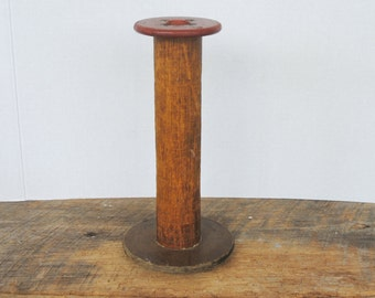 Vintage Industrial Wood Thread Spool
