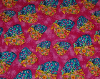 Rare Laurel Burch Fabric from 2005 FELINES & CANINES Collection Cats Dogs