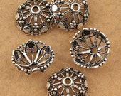 1 piece 16mm 925 Sterling Silver Big Bead Caps / Findings, Antique Silver European Bead Caps