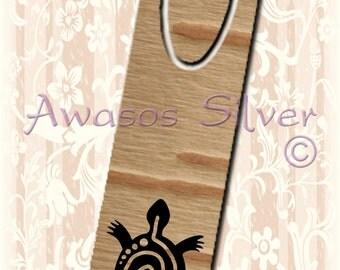 Metal bookmark with high quality printed original images. Native American birch bark and my original turtle design bookmark.
