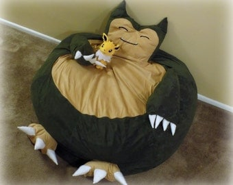 Sleeping Monster Beanbag Chair Cover