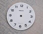 Vintage Soviet alarm clock Raketa face,dial.
