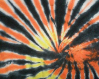 Orange, yellow and black size large.Hand made in U.S.A.