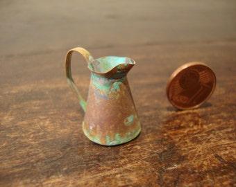 dollhouse miniature copper jug oxidated
