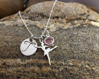 Ballerina Recital Jewelry - Personalized Dance Jewelry - Hand Stamped Dancer Necklace - Dance Recital Gift Ideas - The Charmed Wife
