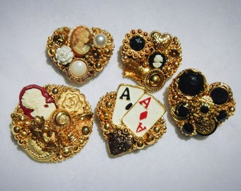 Pins Brooches Vintage Set of Five Jewelry
