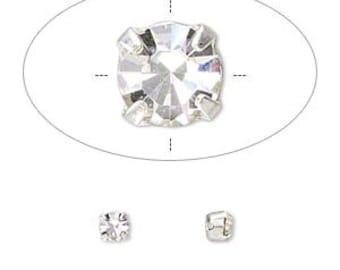 Montees 4mm 4 way Czech Rhinestones ss16 Chatons Clear Diamond 24 pcs