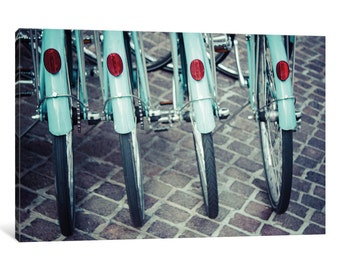 iCanvas Bicycle Line Up I Gallery Wrapped Canvas Art Print by Jessica Reiss