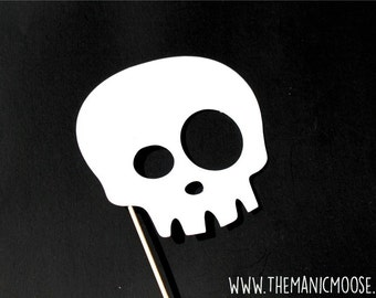 Halloween Photo Booth Props - Halloween Party Prop - Skull Mask