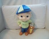 Vintage Bubba 1980's Golfer Boy Ceramic Statue