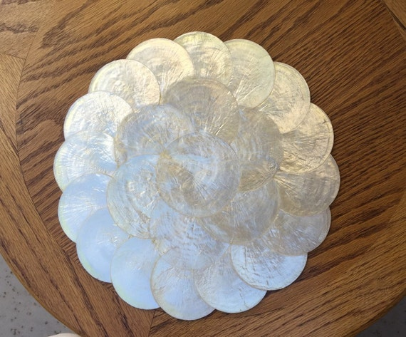5 Capiz Shell Placemats Mats Mother Of Pearl Runners Table