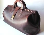 Vintage Schell Leather Case, Doctor's Bag, Satchel, Steampunk