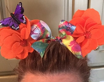 Unique Custom Minnie Ears! You wont find anything like them!