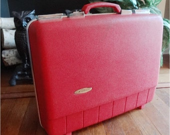 Vintage Red Luggage Weekender Forecast