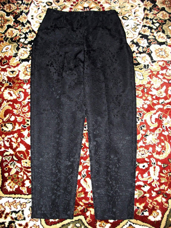 Black Satin Brocade Pants Dress Barn Women S Misses